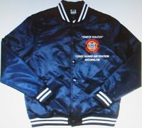 COAST GUARD AIR STATION* ASTORIA-OR * EMBROIDERED 1-SIDED SATIN JACKET