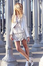 NWT Juicy Couture Cream Guipure Lace Mini Skirt Bloggers Choice sz. 4