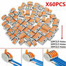 60Pcs Wago 222 Electrical Connectors Wire Block Clamp Terminal Cable Reusable###