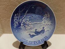 1970 Copenhagen Porcelain Christmas Plate B&G Pheasants in the Snow at Christmas