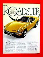 "1978 Triumph Spitfire Roadster Strong Survivor Original Print Ad-8.5 x 11"""