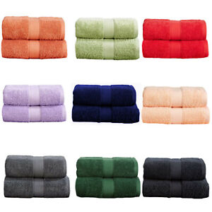 Guest Towels 100% Turkish Cotton 2 Pack Small Hand Towel Face Cloth 40 x 60cm