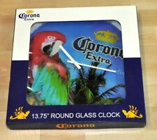 Große Corona Extra Bier USA Uhr Wanduhr Papagei Ara Palmen Motiv