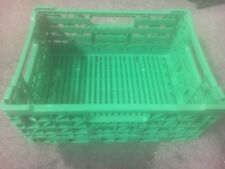 FOLD ABLE FOLDING FLAT PLASTIC STORAGE BOX CONTAINER BASKET CRATES FOOD GRADE