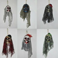 Halloween Ghost Skeleton Prop Wall Decorations Scary Skull Hanging Ornaments