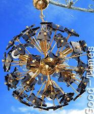 60er FONTANA ARTE Crystal Snowball SPUTNIK Chandelier  Lampe 60s Pusteblume
