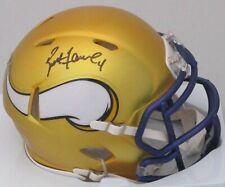 Vikings BRETT FAVRE Signed Riddell BLAZE Mini Helmet AUTO - Hall of Fame NFL MVP