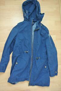 Tommy Hilfiger Mädchen Kinder Parka Jacke Mantel Gr. 176 dunkelblau