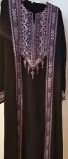 Colorful Womens Traditional Embroidered Palestinian Dress muslim abaya thobe