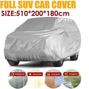 Waterproof Full SUV Car Cover Breathable Dust UV Protector Outdoor For Audi Q7