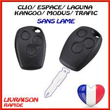 Coque de Cle Renault Kangoo Modus Trafic Laguna Espace 3 Boutons sans lame