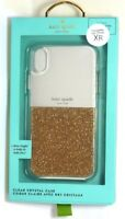 kate spade new york - Clear Slim Case for Apple iPhone XR - Clear/Gold