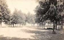 Burr Oak Michigan Looking Across the Park Real Photo Antique Postcard J74136