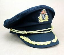 New Deluxe Black Navy Sailor Captain Officer Stag Night Nautical Fancy Dress Hat