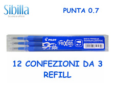 REFILL FRIXION PILOT RICARICA PACK CONVENIENZA 12 CONFEZIONI DA 3 REFILL 0.7 BLU