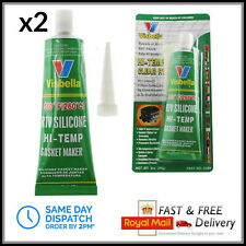 2x RTV Silicone Instant Gasket Maker CLEAR High Temperature Sealant 85G Tube