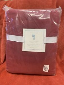 NEW Pottery Barn Kids Solid Flannel Full Sheet Set RED Christmas 🎄