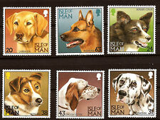 ISLE OF MAN Complete set N° 716-721 Various breeds dogs D75