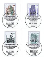 BRD 1987: Celle Münster München Dortmund Nr. 1339-1342! Bonner Stempel! 1A! 1607