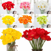 Lot Of 10 20 Artificial Flame Poppy Flower Photography Wedding Decor Supplies