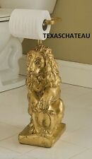OLD WORLD ORNATE GOLD STANDING TOILET PAPER HOLDER STAND FRENCH COUNTRY TUSCAN