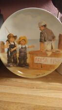 "Knowles ""Fish Story� Collectible Plate Number M2419 Fine China Knowles"