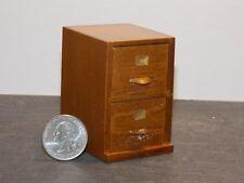 Dollhouse Miniature 2 Drawer File Cabinet Walnut 1:12 scale F11 Dollys Gallery