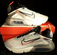 Nike Air Max 2090 Running Shoes White Black Platinum CT7695-100 Men's Size 8