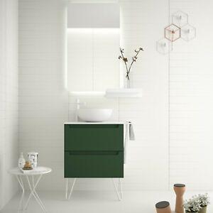 Monterrey 600 2 Drawer Vanity Basin Unit - Royal Green (Salgar)   RRP: £769