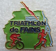 Pin's Sport Triathlon de Fains 27 Natation vélo course