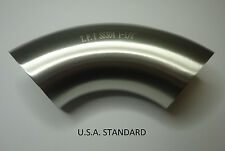 One lot of 10 units, 90º Sanitary Stainless Steel Weld elbow 1.5''