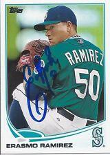 Seattle Mariners ERASMO RAMIREZ Signed 2013 Topps Card