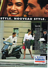 PUBLICITE ADVERTISING 054  1993  YAMAHA   scooter  ZEST 50