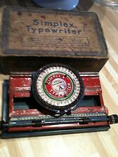 Antique Tin Toy Simplex Typerwriter with Box +Fast Shipping USA and Canada!
