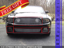GTG 2013 2014 Ford Mustang GT 6PC Polished Combo Billet Grille Grill Kit