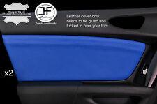 En cuir bleu 2X porte avant carte bordure couvre pour mazda RX8 2003-2012 style 2
