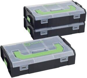 Werkzeugbox 3er Set Sortimo L-BOXX Mini / Deckel transparent Aufbewahrungsbox