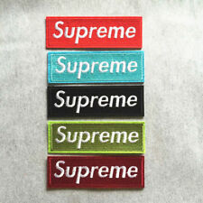 5Pcs Embroidery Hip Hop Supreme Sew Iron on Patch Badge Bag Hat Applique