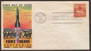 1948 Fort Bliss Texas Sc 976-20 FDC with Fluegel cachet