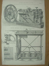 Antico 1880 Vittoriano Stampa TELEGRAFO PIASTRA 4 scrittura & tipo apparecchio di stampa