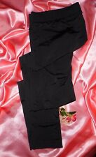 USA M P 10 12 Lands' End Pants Liner Long Johns Long Underwear Black NWOT