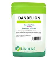 Lindens Dandelion 250mg Whole Root Herbal Capsules TRIPLE PACK x 180 Natural