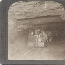 STEREOVIEW, MEN IN AN ELECTRONIC COAL CART, ANTHRACITE MINES, PA.