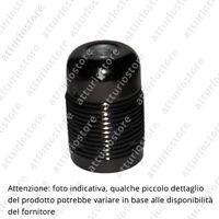 Portalampada E27 in metallo nero con filettatura per ghiera H6cm Ø3,5cm