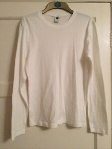 Ladies New Gap White Cotton Jumper Large