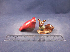 Cracker Barrel Mini Red Cardinal Bird & Deer Salt & Pepper Shakers  CB169B22a