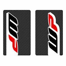 4MX Fork Decals WP Carbon Stickers fits Derbi 50 Senda R DRD Racing 09-11