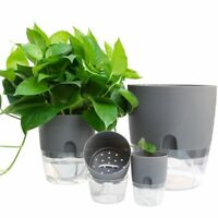 Planter 2 Layer Self Watering Plant Flower Pot Water Container Home Garden Decor