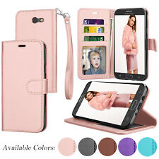 For Samsung Galaxy J7 Sky Pro / J7 2017 Luxury PU Leather Flip Card Wallet Case