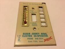 Old Hotpoint WILLIE WIREDHAND Advertising Light Switch Cover Iowa Falls IA Metal